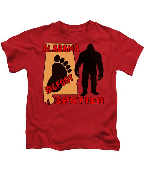 Alabama Bigfoot Spotter Kids T-Shirt