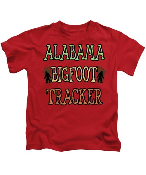 Alabama Bigfoot Tracker Kids T-Shirt