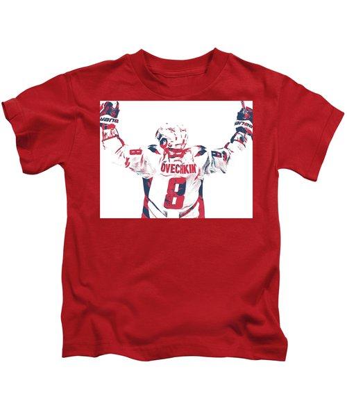 Alexander Ovechkin Washington Capitals Pixel Art 9 Kids T-Shirt