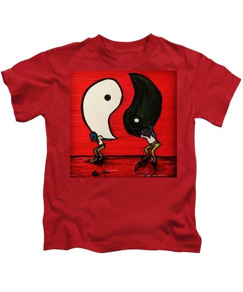 Alien Struggles To Find Balance Kids T-Shirt