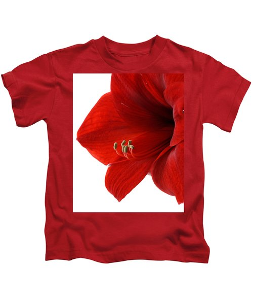 Amaryllis On White 3 Kids T-Shirt