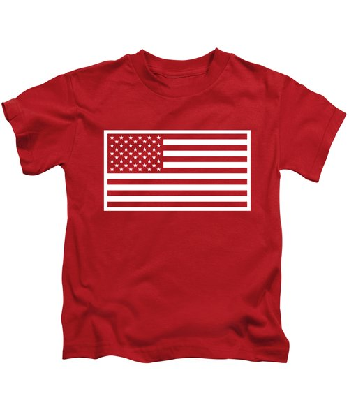 American Flag - Red And White Version Kids T-Shirt