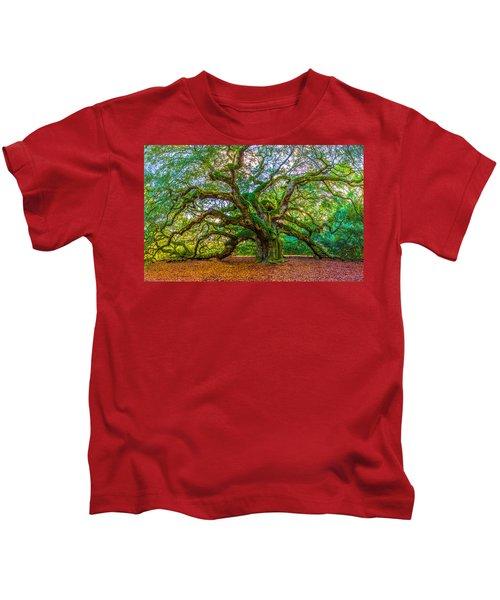 Angel Oak Tree Charleston Sc Kids T-Shirt