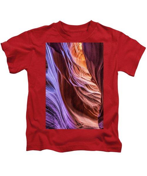 Antelope Canyon Air Glow Kids T-Shirt
