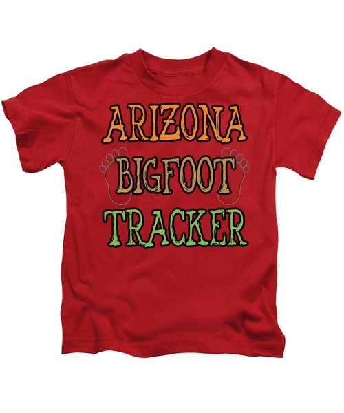 Arizona Bigfoot Tracker Kids T-Shirt