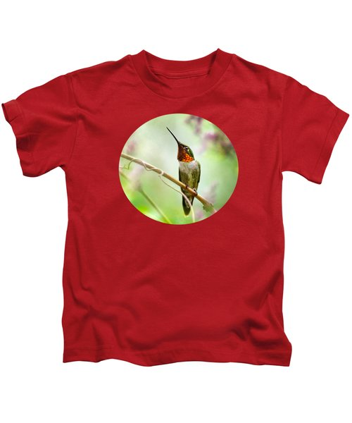 Hummingbird Looking For Love Kids T-Shirt by Christina Rollo