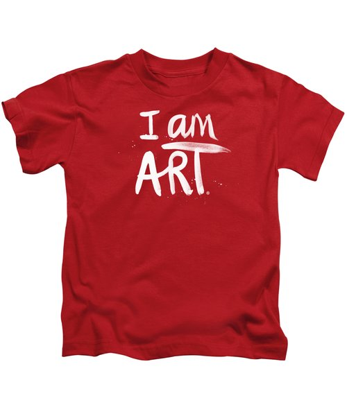 I Am Art- Painted Kids T-Shirt by Linda Woods