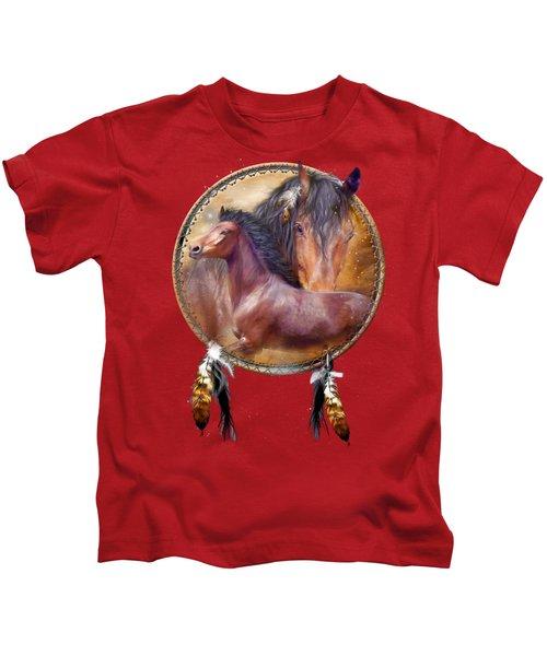 Dream Catcher - Spirit Horse Kids T-Shirt