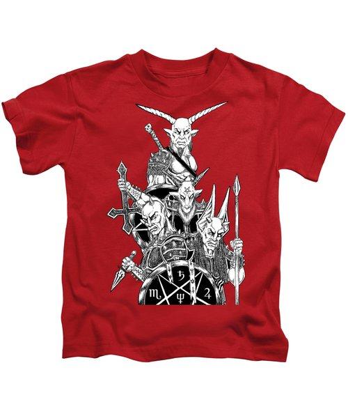The Infernal Army White Version Kids T-Shirt