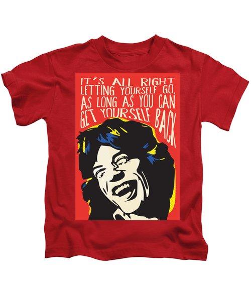 Mick Jagger Pop Art Quote Kids T-Shirt