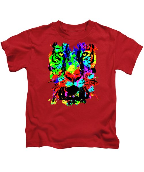 Colored Tiger Kids T-Shirt