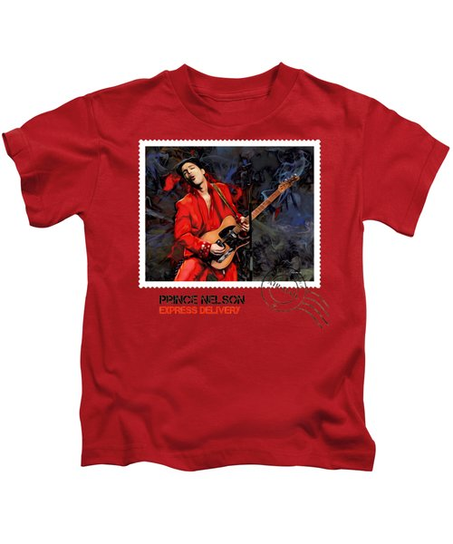 Prince Nelson With Guitar  Kids T-Shirt