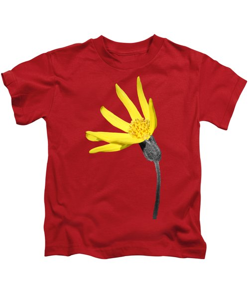 Yellow Wildflower Kids T-Shirt