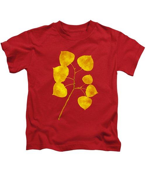 Aspen Tree Leaf Art Kids T-Shirt