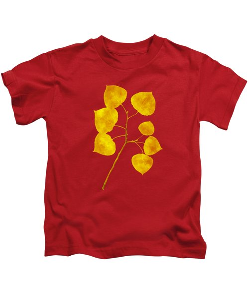 Kids T-Shirt featuring the photograph Aspen Tree Leaf Art by Christina Rollo