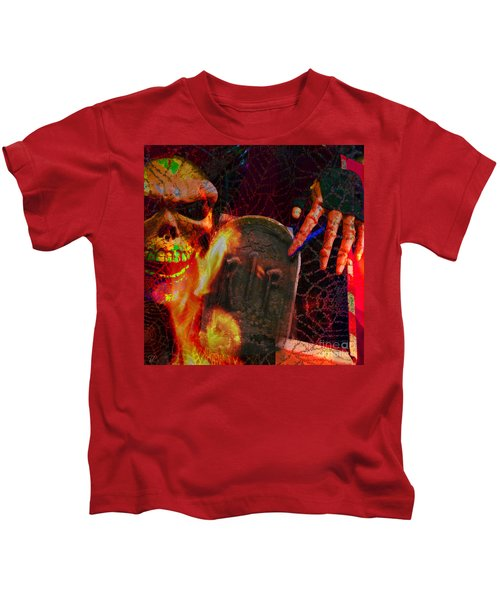 At Night In The Graveyard Kids T-Shirt