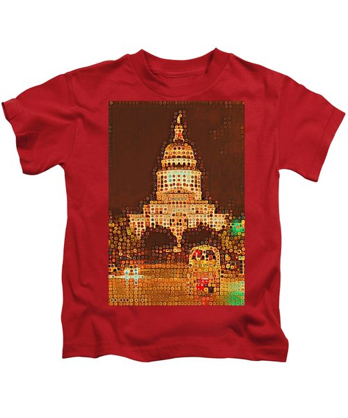 Austin Capitol At Night Kids T-Shirt
