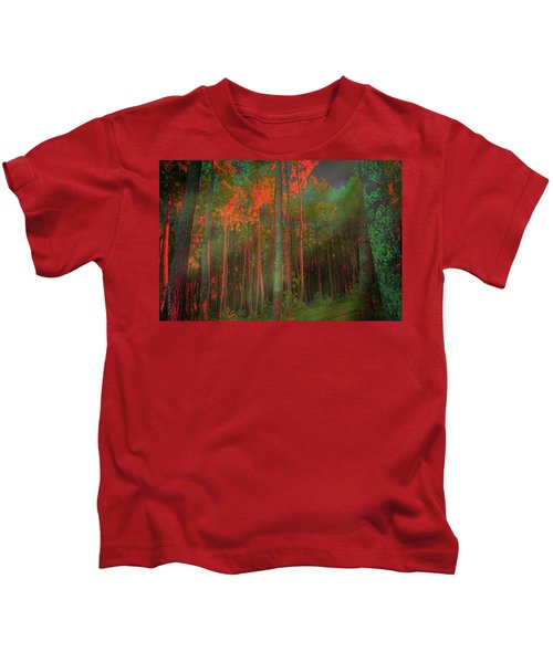Autumn In The Magic Forest Kids T-Shirt