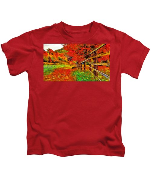 Autumnal Blaze Of Glory Kids T-Shirt