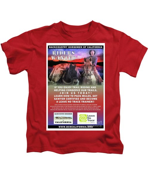 Backcountry Horsemen Join Us Poster II Kids T-Shirt
