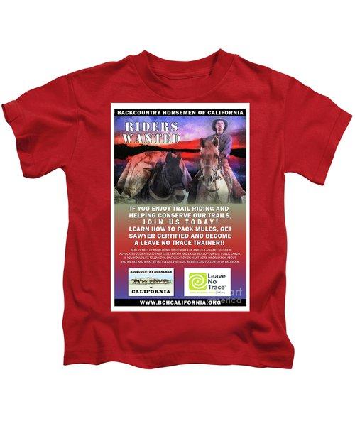 Backcountry Horsemen Join Us Poster II Kids T-Shirt