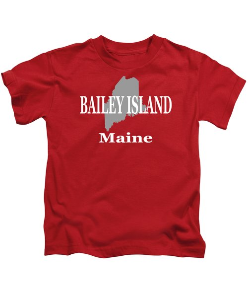 Bailey Island Maine City And Town Pride  Kids T-Shirt