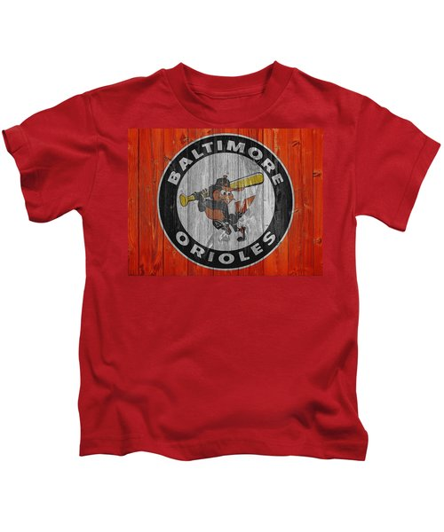 Baltimore Orioles Graphic Barn Door Kids T-Shirt by Dan Sproul