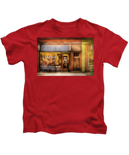 Barber - Towne Barber Shop Kids T-Shirt