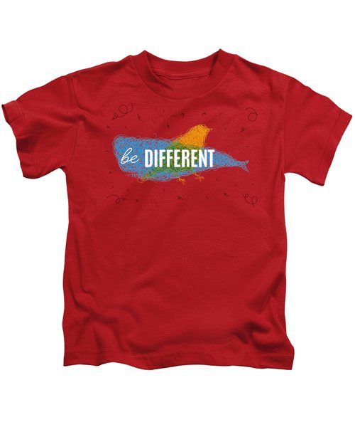 Be Different Kids T-Shirt by Aloke Creative Store