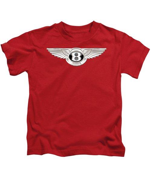 Bentley 3 D Badge On Red Kids T-Shirt