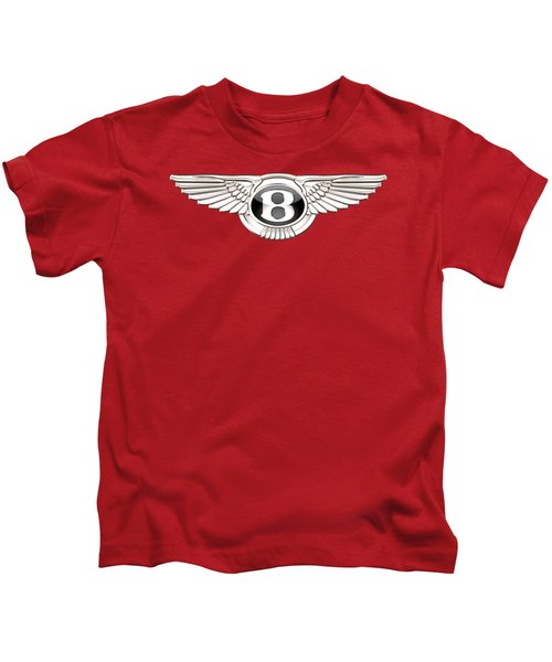 Bentley 3 D Badge On Red Kids T-Shirt