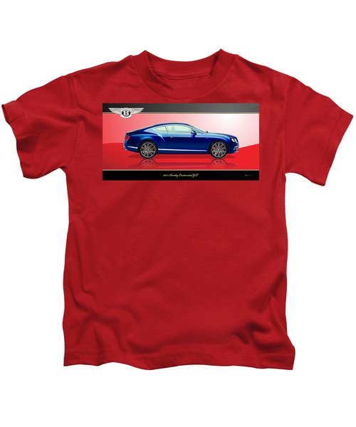Bentley Continental Gt With 3d Badge Kids T-Shirt