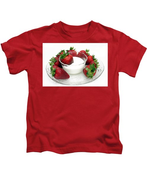 Berries And Cream Kids T-Shirt