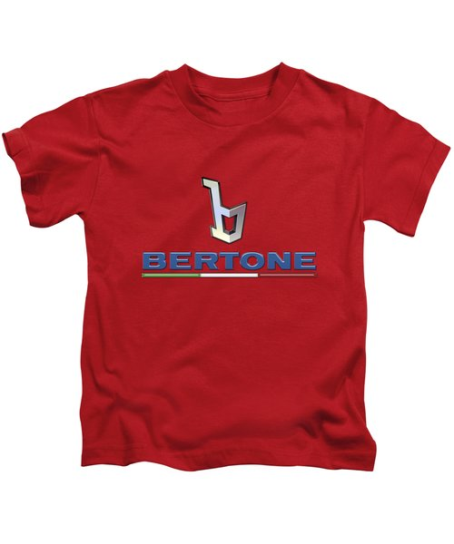 Bertone 3 D Badge On Red Kids T-Shirt
