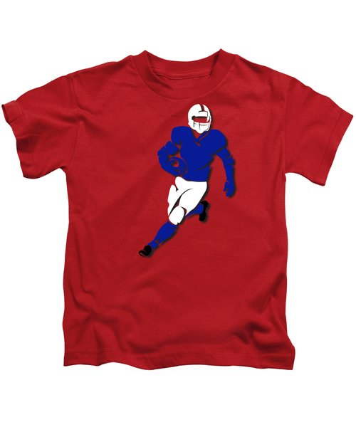 Bills Player Shirt Kids T-Shirt by Joe Hamilton