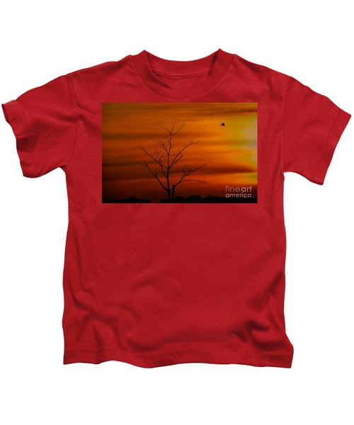 Bird At Play Kids T-Shirt