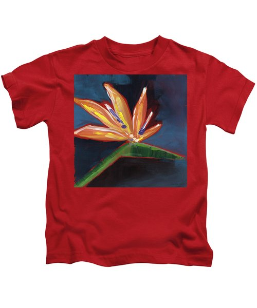Bird Of Paradise- Art By Linda Woods Kids T-Shirt