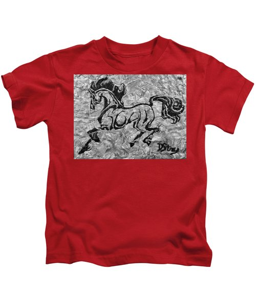 Black Jack Black And White Kids T-Shirt