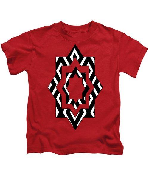 Black And White Pattern Kids T-Shirt
