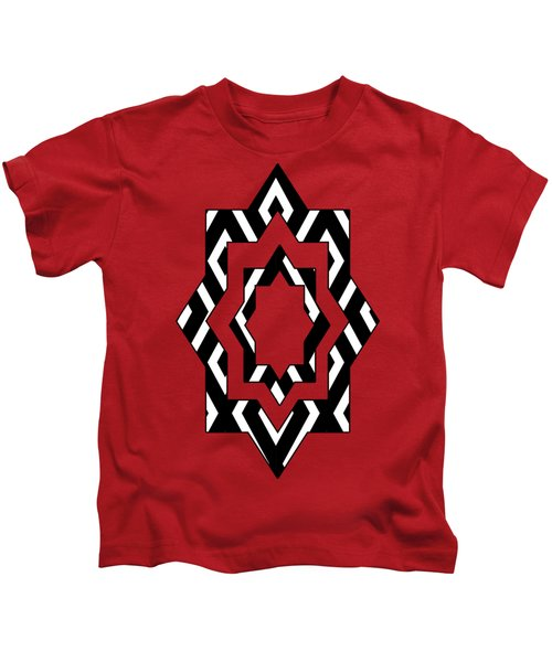 Black And White Pattern Kids T-Shirt