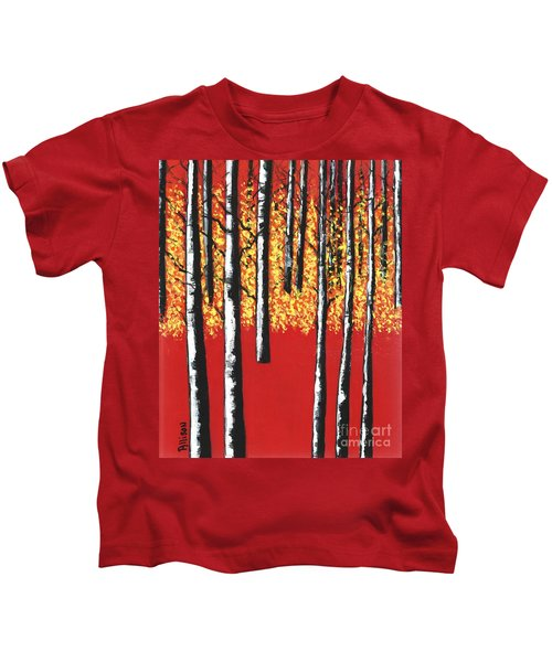 Blazing Birches Kids T-Shirt
