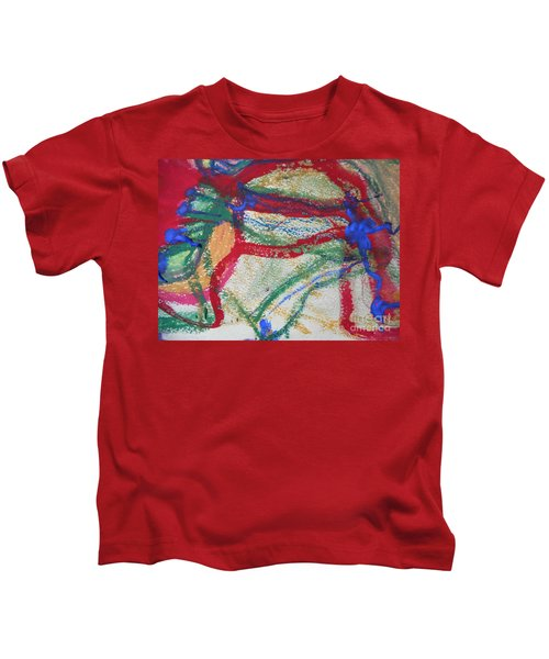 Blue On Red Kids T-Shirt