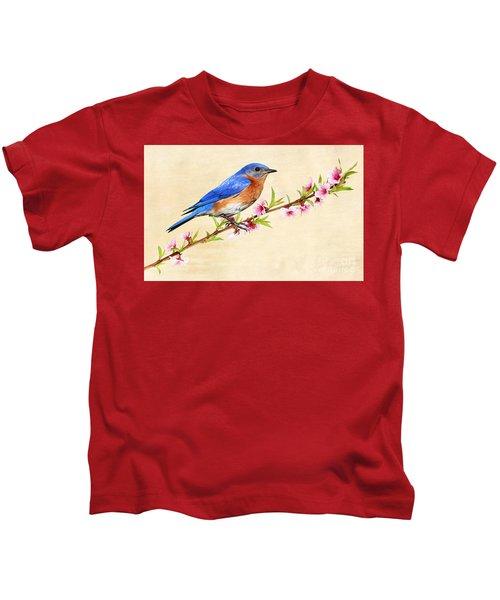 Bluebird's Spring Kids T-Shirt