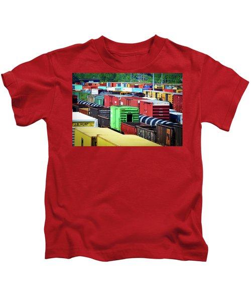 Bnsf Lindenwood Yard Kids T-Shirt