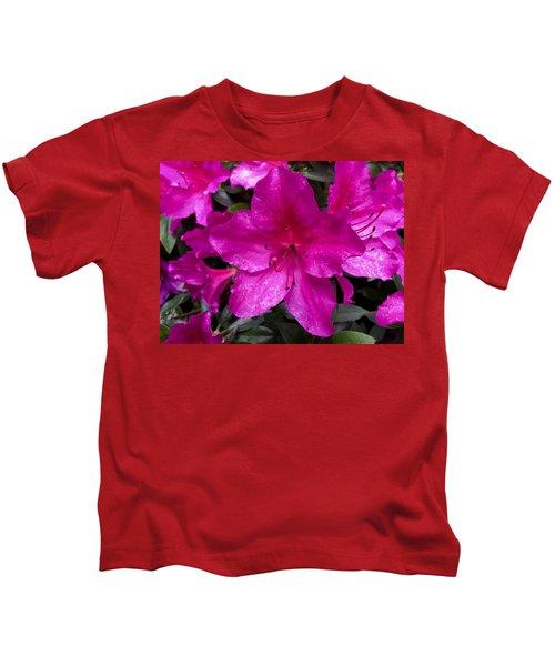 Bold Pink Flower Kids T-Shirt