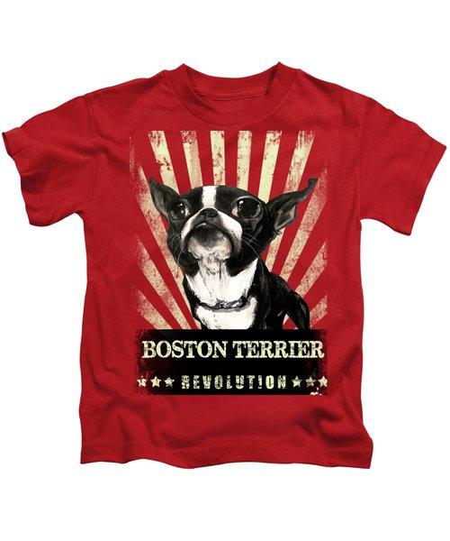 Boston Terrier Revolution Kids T-Shirt