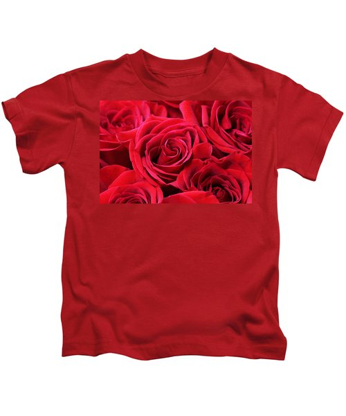 Bouquet Of Red Roses Kids T-Shirt