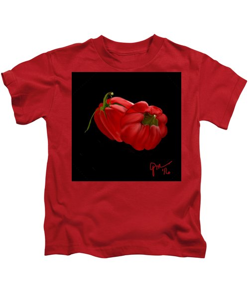 Bright Red Peppers Kids T-Shirt