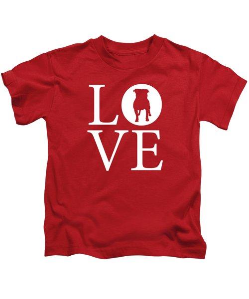 Bulldog Love Red Kids T-Shirt