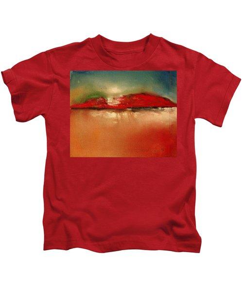 Burgundy Mountain Kids T-Shirt